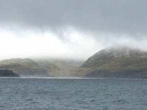 Sailing through the corryvreckan whirlpool, an unexpected fright!